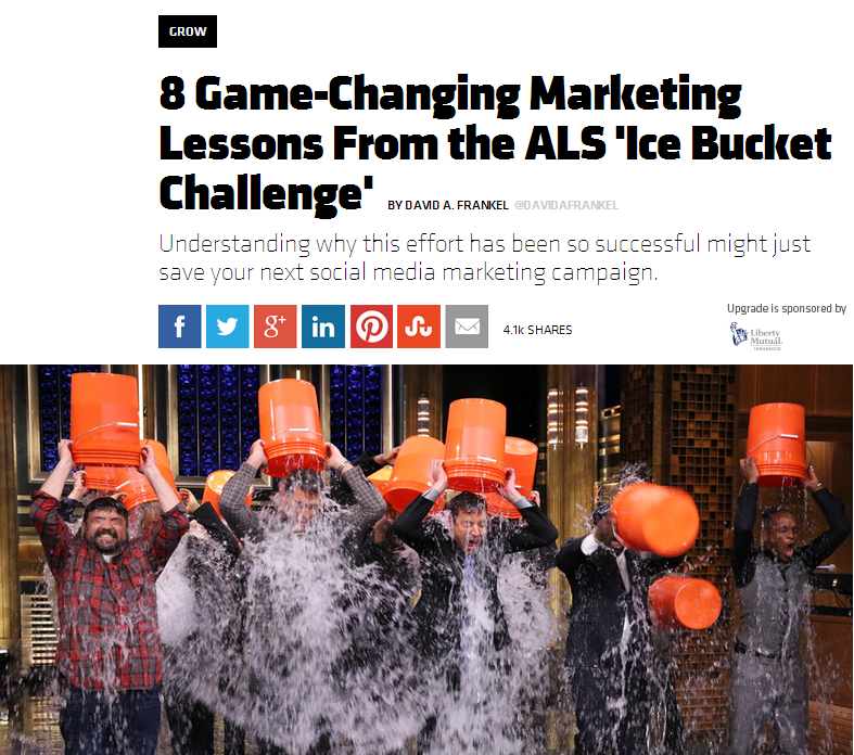 Marketing with an Ice Bucket